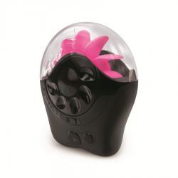 Vibrator Jelly 15 cm rosu Simulator oral Sqweel 2 Negru