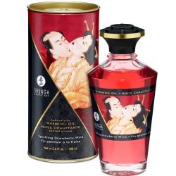 Gel 2 in 1 masaj&lubrifiere Bijoux 100 ml Ulei afrodisiac Shunga cu aroma capsuni 100ml