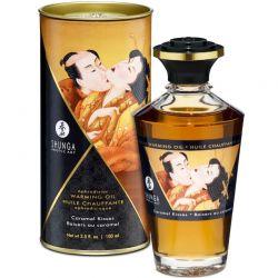 Gel 2 in 1 masaj&lubrifiere Bijoux 100 ml Ulei afrodisiac Shunga cu aroma caramel 100ml